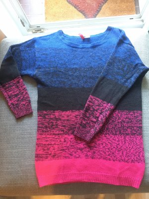 H&M Divided Long Sweater multicolored polyacrylic