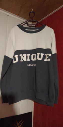 Pullover Blau/Weiß