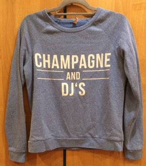 Pullover blau-weiß Champagne&DJ's, Gr. 38, FB Sister