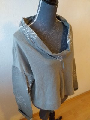 ABSOLUT Oversized Blouse light grey-grey