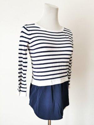 Pullover Bluse blau Streifen