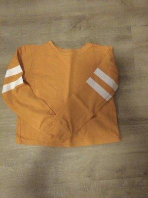 bpc bonprix collection Sweter z okrągłym dekoltem złotopomarańczowy-biały