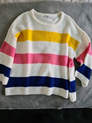 Brave Soul Sweter z dzianiny Wielokolorowy Tkanina z mieszanych włókien