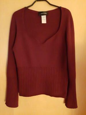 Nicowa V-Neck Sweater carmine viscose