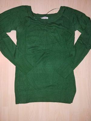 Pullover a maglia grossa verde scuro