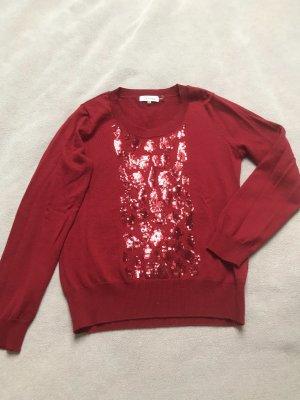 Calvin Klein Sudadera navideña rojo oscuro