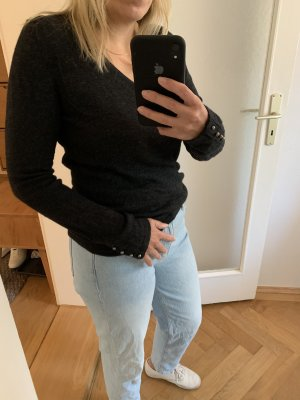 Pullover cashmere Dunkelgrau Gr S
