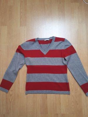 Ambiente Cashmere Jumper grey-dark red