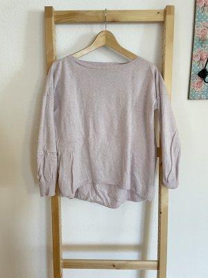 Blaumax Pull en maille fine mauve-vieux rose coton