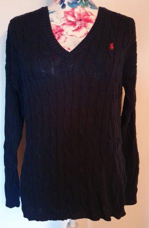 Polo Ralph Lauren Pullover a maglia grossa blu scuro