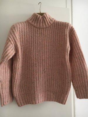Pimkie Wełniany sweter stary róż