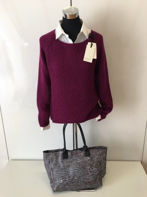 Cocogio Coarse Knitted Sweater brown violet