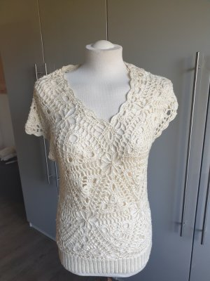 Orsay Crochet Sweater natural white