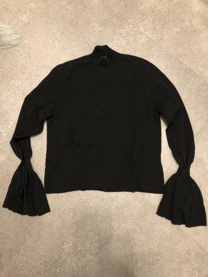 H&M Turtleneck Sweater black viscose