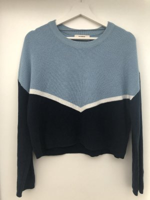 Pullover cropped Pull&Bear blau