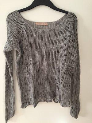 Culture Pullover a maglia grossa grigio-argento