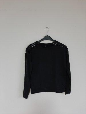 Pullover cutouts grau