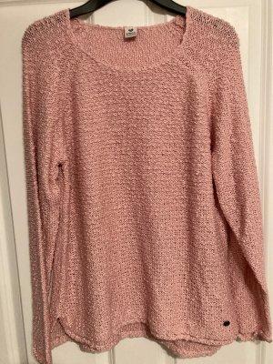 17&co Crochet Sweater pink
