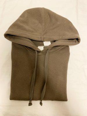 H&M Pull à capuche gris brun