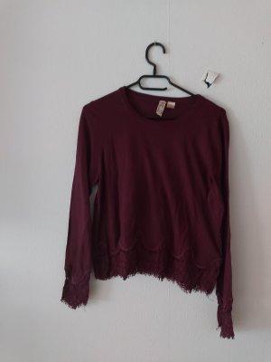H&M Divided Crewneck Sweater bordeaux