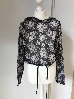 H&M Jersey con capucha negro-blanco puro