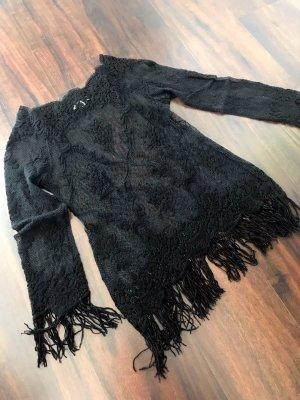 Amazone Jersey de ganchillo negro