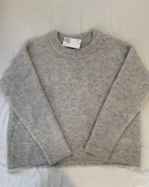 H&M Kaszmirowy sweter szary