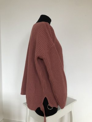 Bohoo Kraagloze sweater roodbruin-roze