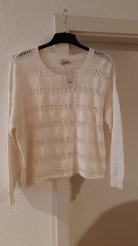 Crochet Sweater white mixture fibre