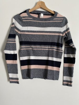 H&M Divided Ribbed Shirt multicolored
