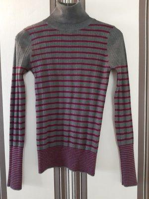 Mango Turtleneck Sweater multicolored