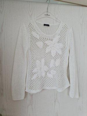 Oui Crochet Sweater white