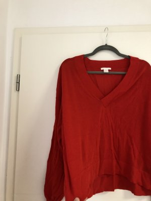 Pullover dünn V Ausschnitt in Rot
