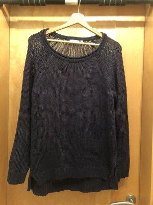 Pullover dunkelblau grobstrick