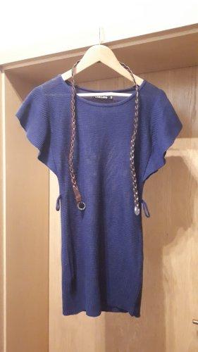 Sweter z krótkim rękawem niebieski