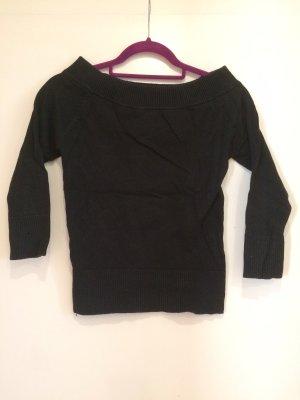 Pullover dunkelblau, schulterfrei, H&M, Gr. XS