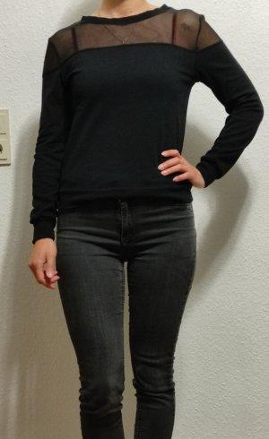 Pullover durchsichtig schwarz XS