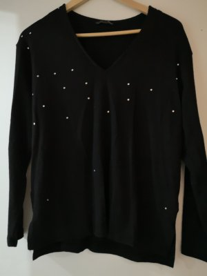Zara V-Neck Sweater black