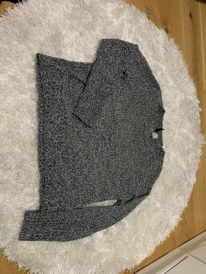 Wool Sweater black-silver-colored