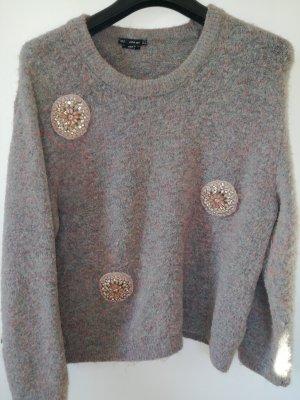 Zara Maglione di lana marrone-grigio