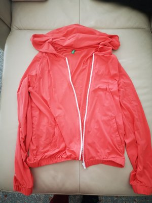 Benefit Hooded Sweater bright red polyamide