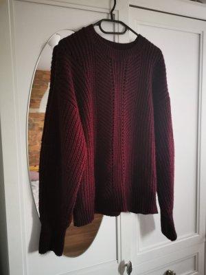 C&A Clockhouse Pullover a maglia grossa carminio-bordeaux