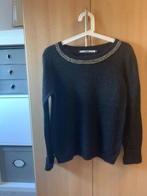 Only Wełniany sweter czarny
