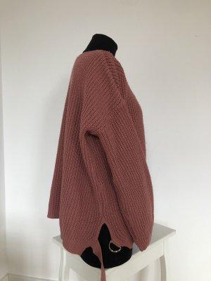 Bohoo Sweter z okrągłym dekoltem brązowo-czerwony-różowy