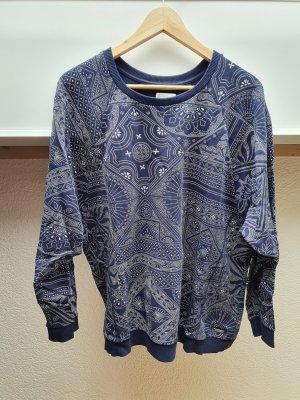 Element Jersey de cuello redondo blanco-azul