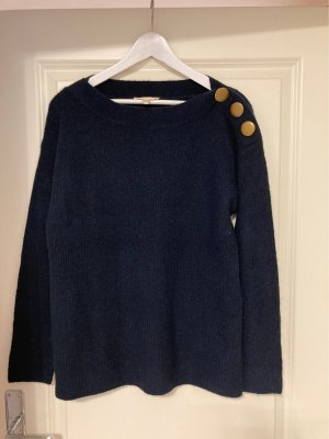 Esprit Kraagloze sweater donkerblauw