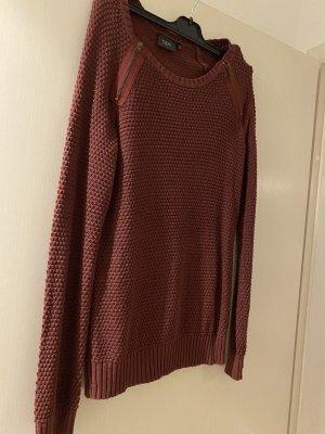 bpc bonprix collection Sweter z okrągłym dekoltem bordo