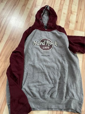 Hard Rock Cafe Sweat à capuche gris-bordeau