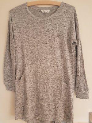 Vestido tipo jersey color plata-gris
