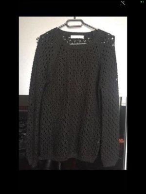 Amisu Coarse Knitted Sweater black